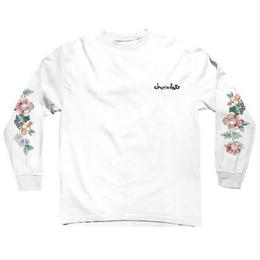 CHOCOLATE SKATEBOARDS FLORAL CHUNK L/S WHITE