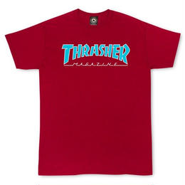 THRASHER MAGAZINE Outlined T-Shirt-Cardinal Red