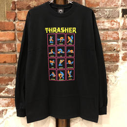THRASHER BLACK LIGHT L/S TEE-BLACK