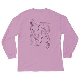 THE QUIET LIFE REFLECTIVE LONG SLEEVE T-PINK