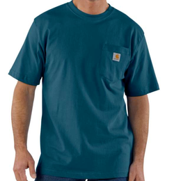 CARHARTT WORKWEAR POCKET T-SHIRT-Stream Blue