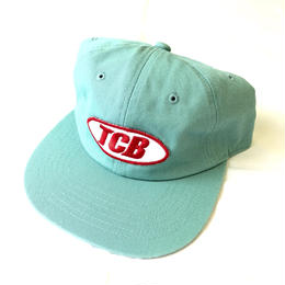 Tall Can Boys Over Patch 6 Panel Snap Back Cap - Sax Blue