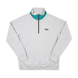 ONLY NY Logo Quarter Zip Pullover-Grey