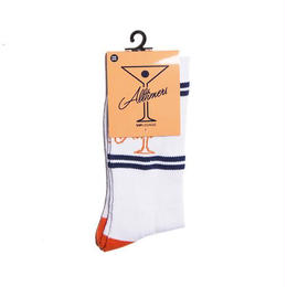 ALLTIMERS LEAGUE PLAYER SOCK - WHITE/ORANGE/NAVY