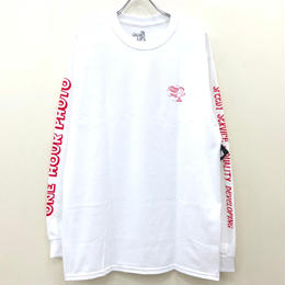 THE QUIET LIFE ONE HOUR PHOTO LONG SLEEVE TEE-WHITE