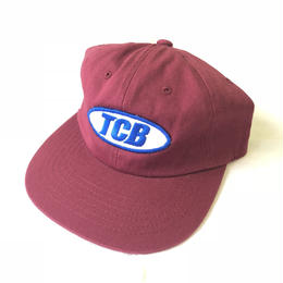 Tall Can Boys Over Patch 6 Panel Snap Back Cap - Dark Red