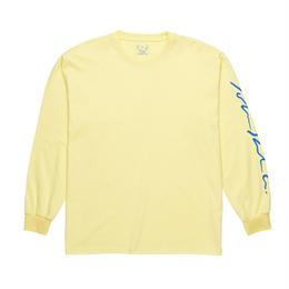 POLAR SKATE CO SIGNATURE LONGSLEEVE- Light Yellow