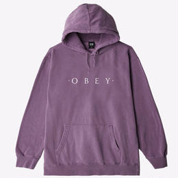 OBEY Novel OBEY Basic Pigment Pullover-Dusty Eggplant