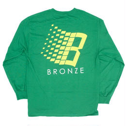 BRONZE56K B LOGO LONGSLEEVE KELLY GREEN/YELLOW