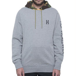 HUF VOYAGE FRENCH TERRY PULLOVER HOODIE - ATHLETIC HEATHER