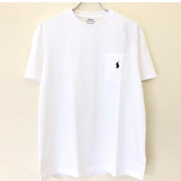 POLO RALPH LAUREN 1POINT POCKET TEE-WHITE