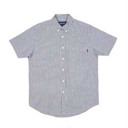ONLY NY Blue Point Short Sleeve Shirt - Hickory Stripe