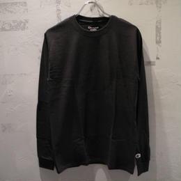 CHAMPION LONGSLEEVE T SHIRTS BLACK チャンピオン ワンポイント ロングスリーブ Tシャツ ブラック