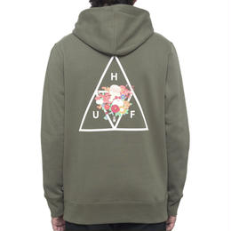 HUF MEMORIAL TRIANGLE PULLOVER HOODIE - OLIVE