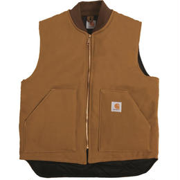 CARHARTT V01 Firm Cotton Duck Vest - CARHARTT BROWN