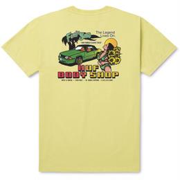 HUF BODY SHOP TEE - SUNSET YELLOW