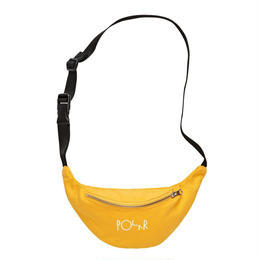 POLAR SKATE CO  SCRIPT LOGO HIP BAG-Yellow