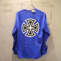 Independent Truck Co. BAR CROSS L/S T SHIRT BLUE