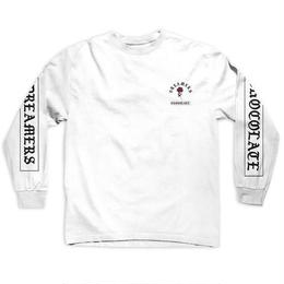 CHOCOLATE SKATEBOARDS DREAM ON  L/S TEE - WHITE