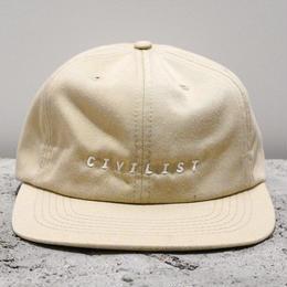 Civilist Cotton Serif Cap – Sand/Glow