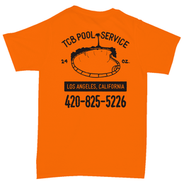 Tall Can Boys POOL SERVICE TEE-ORANGE