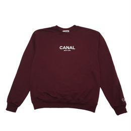 CANAL CLASSIC LOGO CHAMPION CREW - MAROON