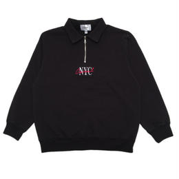 CANAL LIPSTICK QUARTER-ZIP - BLACK