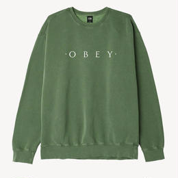 OBEY Novel OBEY Basic Pigment Crew-Dusty Forest