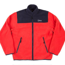 DIME POLAR FLEECE JACKET-Coral & Navy
