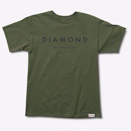 Diamond Supply Co. STONE CUT TEE-Military green