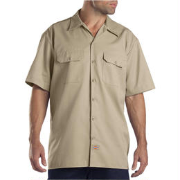 DICKIES Short Sleeve Work Shirt - DESERT SAND