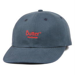 BUTTER GOODS CLASSIC LOGO CORD 6 PANEL CAP-SLATE