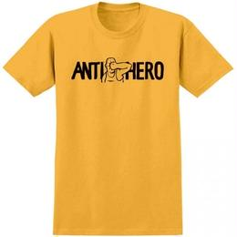 ANTI HERO FACE PUNCH TEE - GOLD