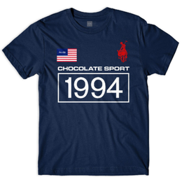CHOCOLATE SKATEBOARDS ROLO 94 TEE-NAVY