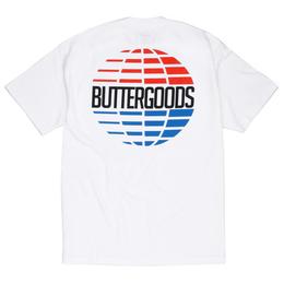 BUTTER GOODS MULTI-NATIONAL LOGO TEE, WHITE