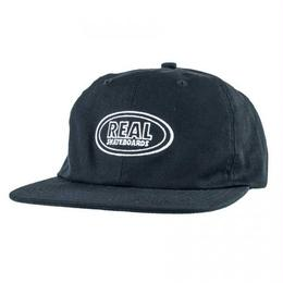 REAL SKATEBOARDS Real Oval Embroidered Clipback Hat - Black/White