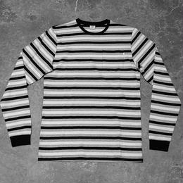 Civilist Striped Pocket Longsleeve – Black/White