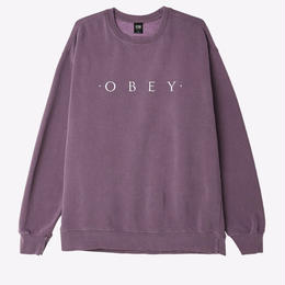 OBEY Novel OBEY Basic Pigment Crew-Dusty Eggplant