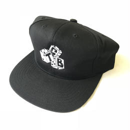 Tall Can Boys Dice 5 Panel Snap Back Cap - Black