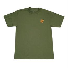 BRONXE56K B TEE SHIRT MILITARY GREEN/ORANGE/WHITE