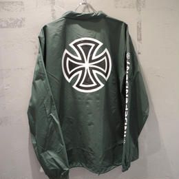 Independent Truck Co. BAR CROSS SLEEVE COACH JACKET GREEN