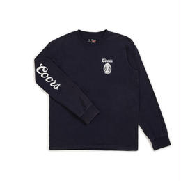 BRIXTON FILTERED L/S STANDARD TEE-NAVY