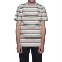 HUF OFF SHORE STRIPE TEE-PINK