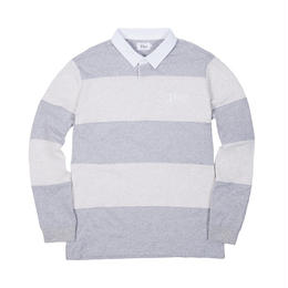 DIME STRIPED RUGBY SHIRT - Ash / Heather Gray