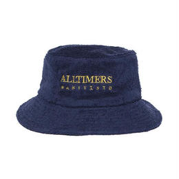 ALLTIMERS MANIFESTO TERRY BUCKET HAT - NAVY