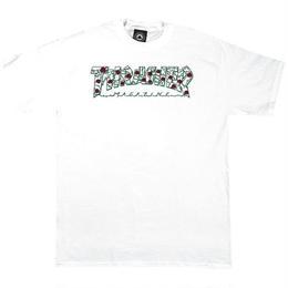 THRASHER MAGAZINE Roses tee-WHITE