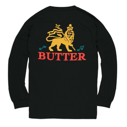 BUTTER GOODS JUDAH L/S TEE, BLACK