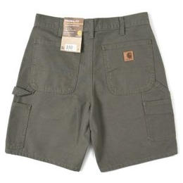 CARHARTT WASHED DUCK WORK SHORTS-MOSS