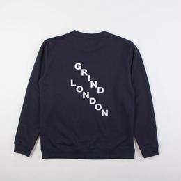 GRIND LONDON SQUAD SWEATSHIRT-NAVY