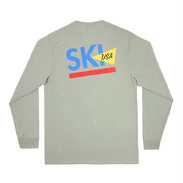 ONLY NY Ski USA L/S T-Shirt - Moss